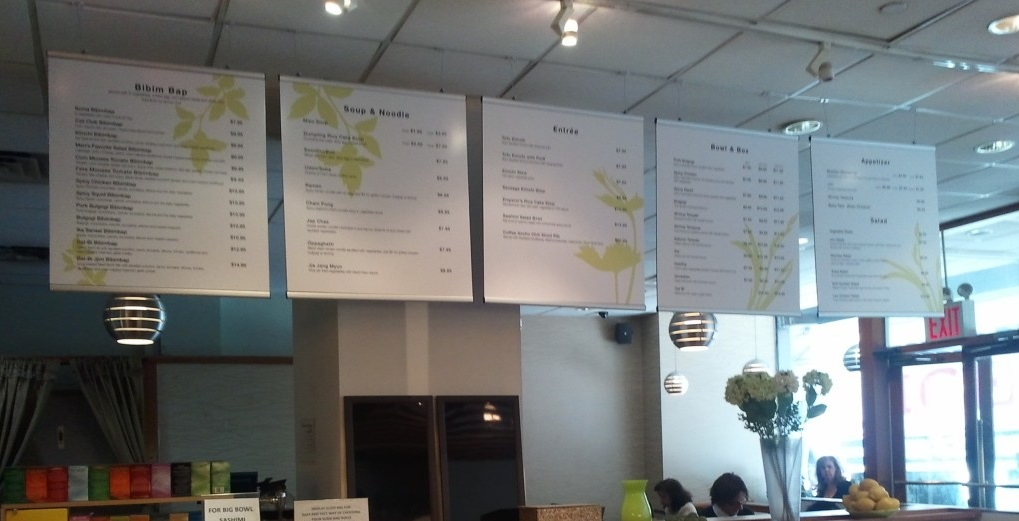 Graphics Holders, Menu Boards