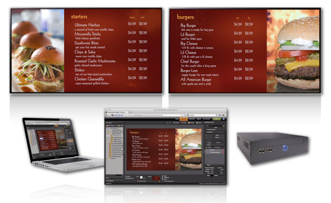 Digital Menu Boards, Origin Elite, Menu Boards